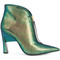 Marni - two tone sculptural booties - women - goat skin/leather - 36, green, goat skin/leather