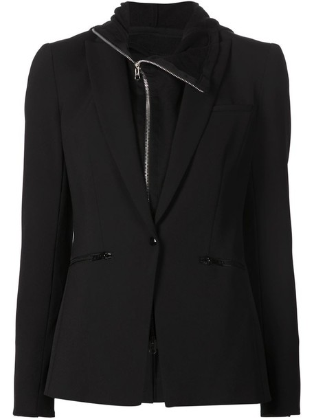 Veronica Beard blazer women spandex black jacket