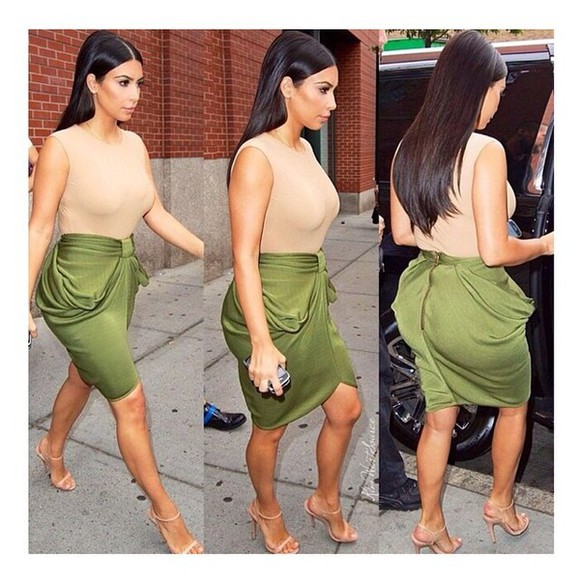 kim kardashian skirt celebrity style blouse