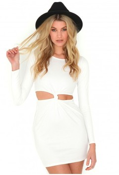 TOPSHOP KNOT DRESS IN WHITE on The Hunt