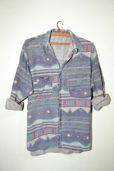 shirt denim blue vintage denim shirt colorful red green grey clothe