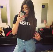 shirt,black,white words,msfts