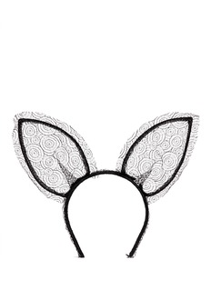 'heidi' lace rabbit ear headband