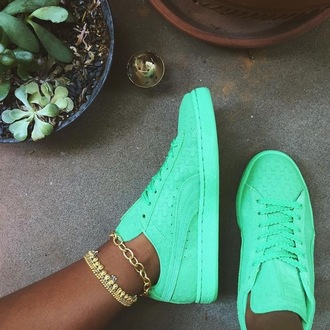 shoes deep minty green solange puma solange -artist & designer of word to woman   pumaa collection