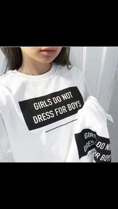 t-shirt,quote on it,sweater,sweatshirt,white,pretty,black,self,confidence,instagram
