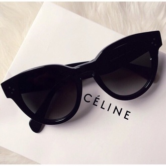 sunglasses celine black dress summer