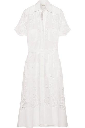 dress midi dress midi white cotton
