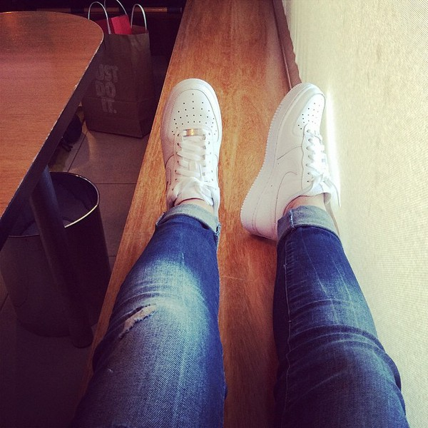 shoes sport shoes nike air nike air force 1 nike sneakers white white shoes