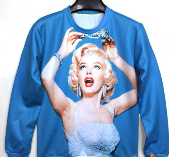 marilyn monroe sweater crewnecks sweatshirt