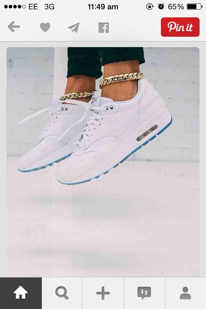 size 40 6cfb7 ff013 jewels ankle jewelry gold jewellery rings feet loops links bracelet - pink nike  air max white