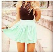 shirt,clothes,mint skirt,lace,black,whole oufit,dress,skirt,mint,sleeveless,sleeveless dress,mint green skirt,high neck,summer dress,summer outfits,cute dress,teal,?? neeed this,cyan #skater,black lace cutout,the same exact as the picture,bracelets,t-shirt,top,separate,skater,green,black crop top,pretty,blue beautiful violetta cute skirt,black cutout,short,black top,blue,teenagers,outfit,fashion,style,lace top,black light blue,black and turquoise knee length,teal dress,black dress,flowy dress,cute,mint green skater skirt,girl,girly,zaful,summer,love,cute dreess,blac,white,floral,flowers,indie,boho,bohemian,boho dress,grunge,vintage,hipster,tumblr,vert d'eau,mint and black dress,halter top,black halter top,blue dress,classy dress,high waisted skirt,mint dress,gold chain,skater dress,skater skirt,blouse,turquoise,summerdresses,mint and black,lace dress,turquoise dress,halter top dress,blue skirt,green skirt,sky blue,helps!!!!,tank top,and skirt,bodysuit,mesh insert,lace inserts,pastel,simmer dress,the mint green skirt and the black lace crop top