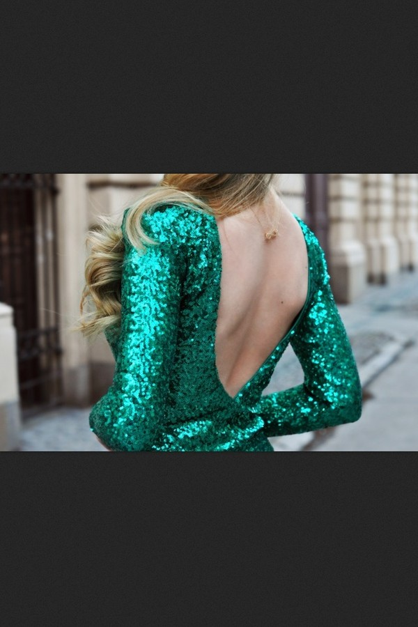 dress sequin dress sequins green dress green