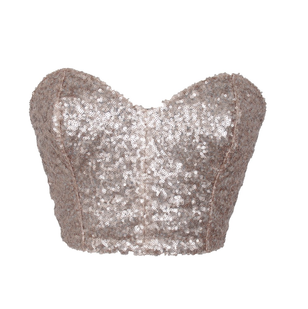 Gold Sequin Bustier | Style Icon`s Closet