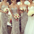 Buy Fantastic Grey Lace Sheath/Column Sweetheart Neckline Sweep Tain Bridesmaid Dress under 300-SinoAnt.com