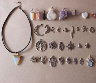 jewels hipster pendent juwels indie choker necklace crystal jewelry necklace diamonds sun science tree moon bolt assessories assessor mon grunge alien hippie style magic cristal hair accessory bijoux pendentif