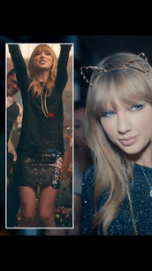 taylor swift,sequin skirt,blouse,hair accessory,music video,22,22 music video