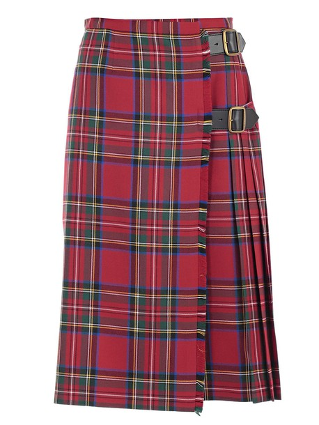 Burberry skirt bright red