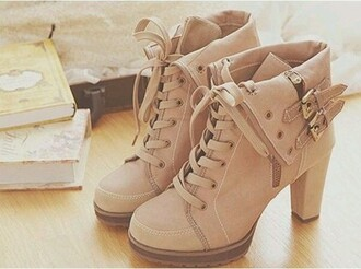 shoes boots high heels nude strap buckle