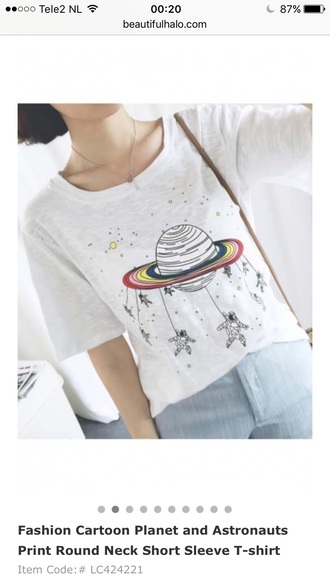 t-shirt white trendy fashion style summer teenagers beautifulhalo planets