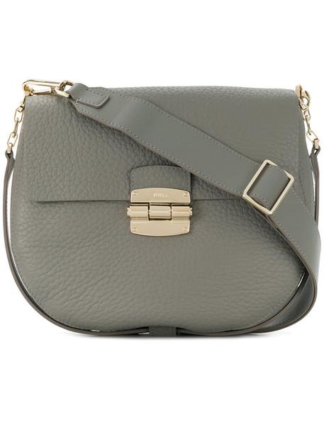 Furla women bag shoulder bag leather grey