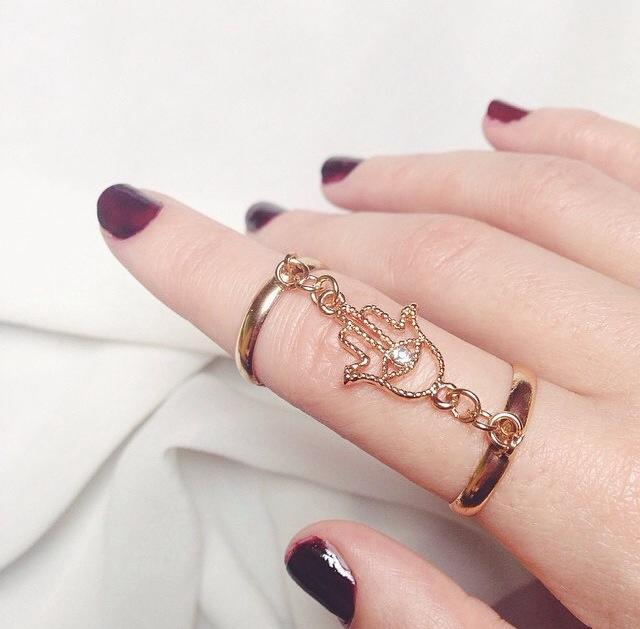 Hamsa double ring · trumpet jewels & accessories · online store powered by storenvy