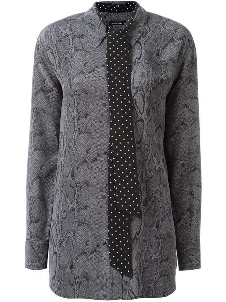 Equipment blouse women print silk grey top