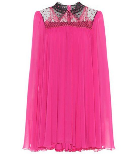 Philosophy di Lorenzo Serafini embroidered pink dress