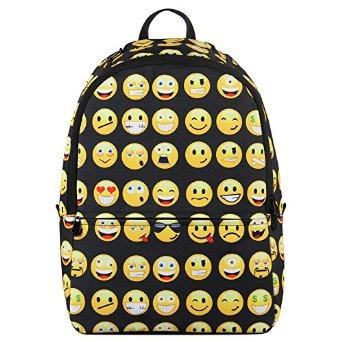 Amazon.com: Hynes Eagle New Fashion Designer Backpack Smiling Face Casual Daypacks Emoji School Book Bags (Black): Clothing