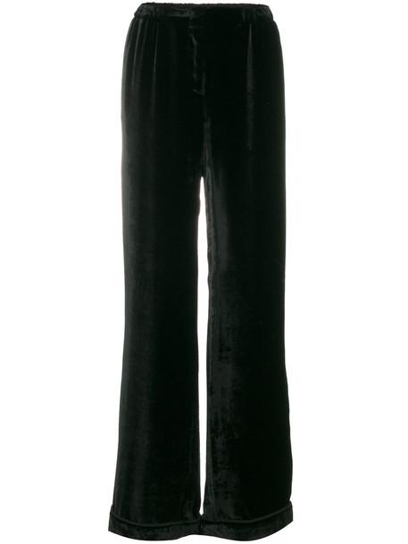 Alberta Ferretti pants palazzo pants women black silk