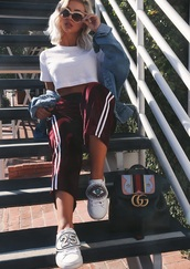 pants,velvet,girly,tumblr,red,crushed velvet,stripes,velour