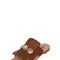 Embellished ponyskin leather sandals