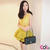 Yellow Gorgeous Pleated Tunic with Belt Asian Fashion Summer Collection