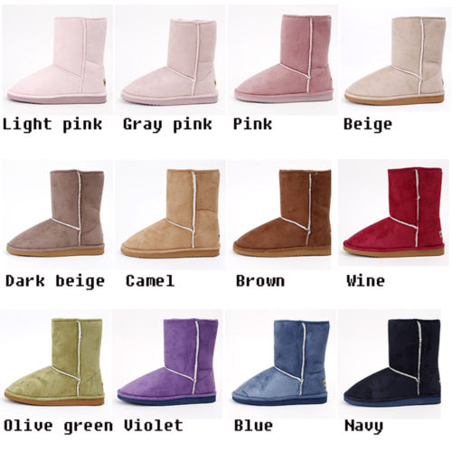 Womens Suede Lug Sole Comfort Winter Snow Boots 12Colors US Size 5 5 8 | eBay