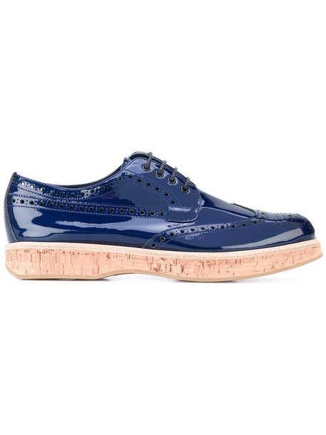 Church's women leather blue shoes