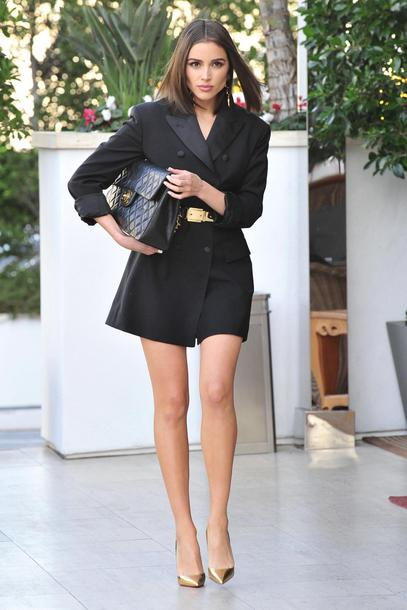 shoes blazer black blazer blazer dress pumps dress olivia culpo gold pumps metallic shoes