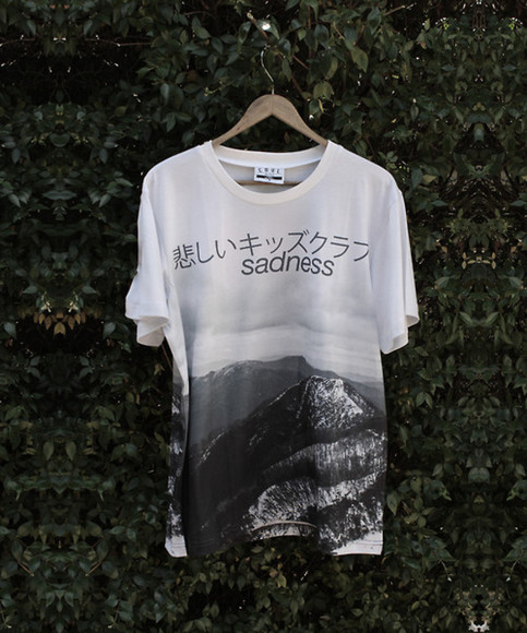 shirt tumblr pale grunge sadness chinese asian kawaii alternative