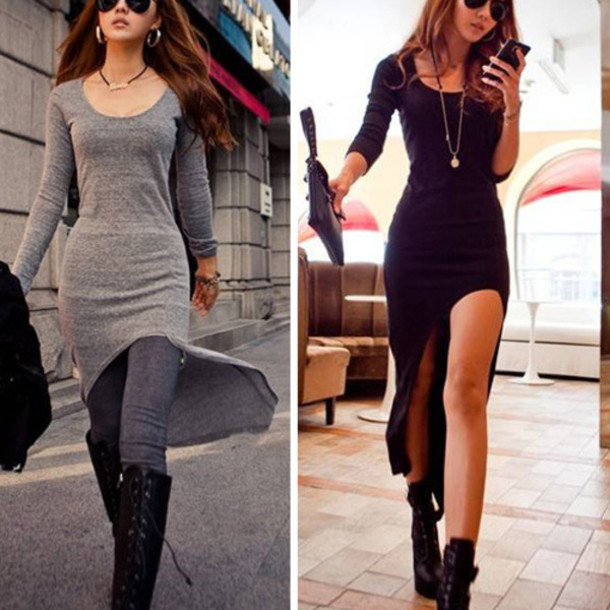 1712c86745e2 jumpsuit fashion dress top grey black clothes sexy dress elegant cute new  girl beautiful beautiful girl