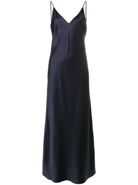 Joseph dress women blue silk