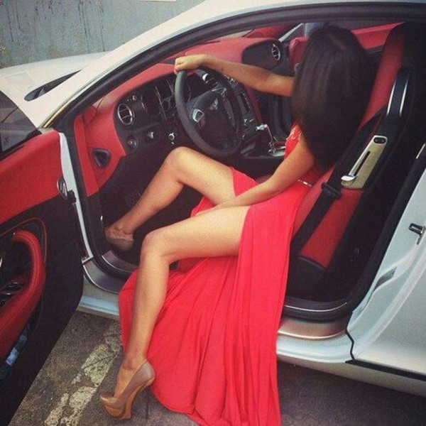 dress red dress bag slit maxi skirt slit dress pretty