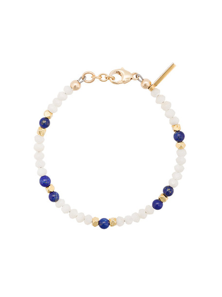 Nialaya Jewelry beaded bracelet women pearl beaded gold white jewels