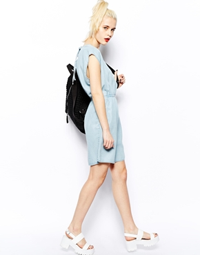 Monki | Monki Light Denim Dress at ASOS