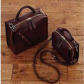 bag,karen millen,leather bag,brown leather bag,satchel bag,travel bag,mens messenger bag