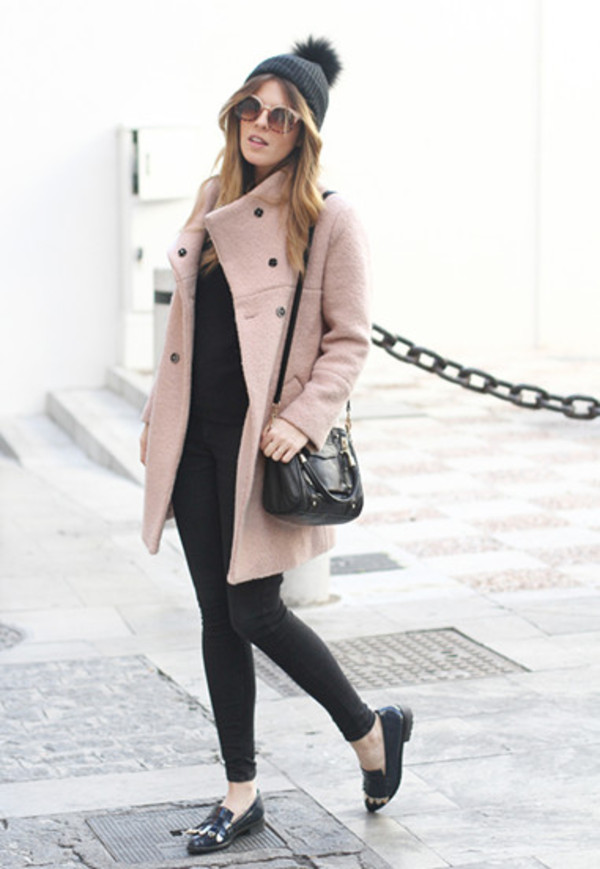 coat winter outfits clothes beige jacket top shoes