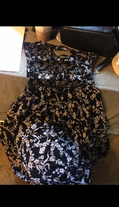 dress,purple flowers,bn crew,floral,floral dress,strapless,strapless dress,cut-out,cut-out dress,cutedressboutique,black dress,above the knee dress,above the knee,mini dress,black mini dress,floral mini dress,short dress,flowy dress,low cut dress,black low cut dress,straps,rayon dress,stretchy dress