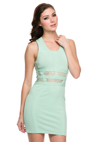 Lace & Mint Dress - KURIEL