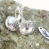 jewels,siggy jewelry,swarovski,earrings,shimmer,white patina,elegance,elegant,white,white party,bling,bridal,fashion,style,shopping,designer earrings,great style