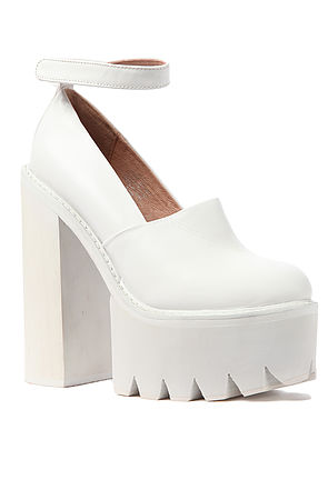 6221a684ba9 Jeffrey Campbell Shoe Scully Platform in All White - Karmaloop.com