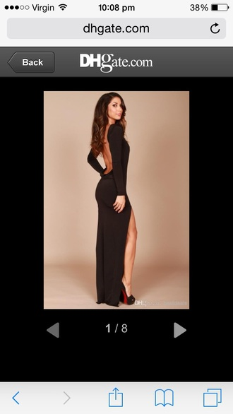 dress backless black dress