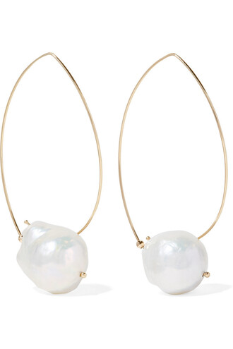 pearl earrings pearl earrings gold white jewels