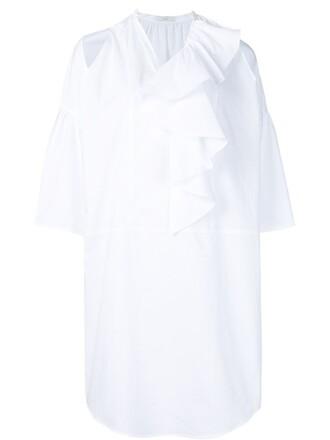 tunic oversized ruffle white top